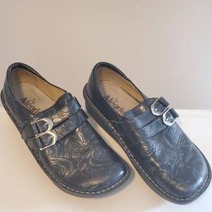 Alegria Leather Slip Resistant Nursing Shoe